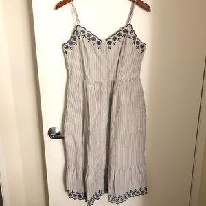 🌻 Madewell - Jardin Embroidered dress